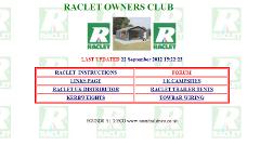 Raclet web site